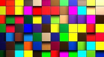 abstrakter Vektorhintergrund von mehrfarbigen Würfeln