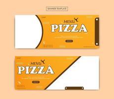 uppsättning banner mall för livsmedelsföretag vektor