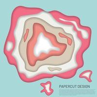 abstraktes 3D-Papierschnitt-Banner. Vektorillustration