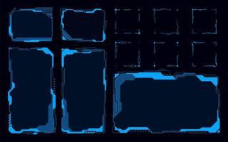 abstrakta futuristiska hud. framtida element blå monokom tema koncept bakgrund vektor
