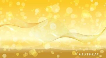abstrakter Hintergrund mit glänzenden Wellen und Bokeh-Licht. Vektorillustration eines hellen Entwurfs vektor