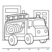 Feuerwehrauto Malvorlagen vektor