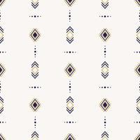 nahtloses ethnisches Muster mit geometrischen Formen vektor