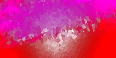 ljusrosa, röd vektor poly triangel mall.