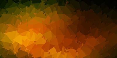 dunkelgrünes, gelbes Vektor-Poly-Dreieck-Layout.