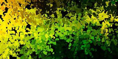 hellgrüner, gelber Vektorhintergrund mit zufälligen Formen.