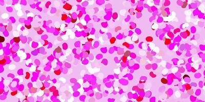 hellviolettes, rosa Vektormuster mit abstrakten Formen.