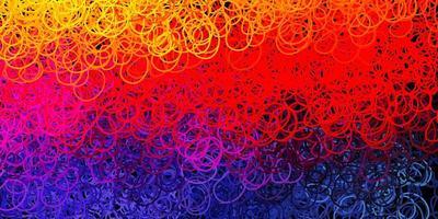 mörkrosa, gul vektorbakgrund med kaotiska former.