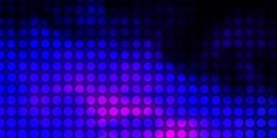 mörkrosa, blå vektorlayout med cirklar. vektor