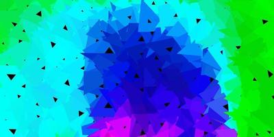 dunkler mehrfarbiger Vektor-Dreieck-Mosaik-Hintergrund.