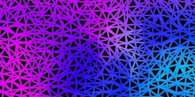 ljusrosa, blå vektor triangel mosaik mall.