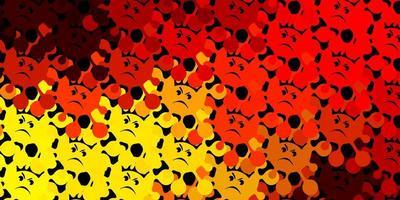 mörk orange vektor konsistens med sjukdomssymboler.