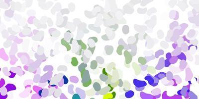 hellrosa, grüner Vektorhintergrund mit zufälligen Formen.