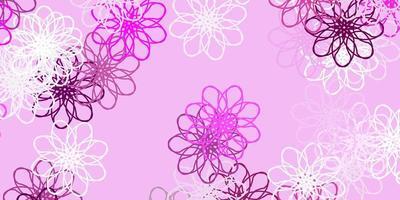 hellrosa Vektor natürliches Layout mit Blumen.