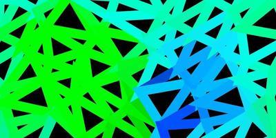 mörk flerfärgad vektor abstrakt triangelmall.