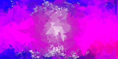 hellviolette, rosa Vektor geometrische polygonale Tapete.