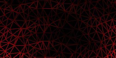 mörk orange vektor månghörnigt mönster.