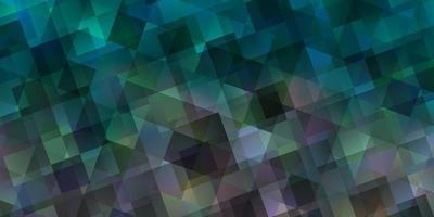 hellblauer Vektorhintergrund mit Dreiecken.