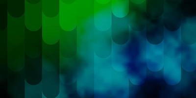 hellblauer, grüner Vektorhintergrund mit Linien