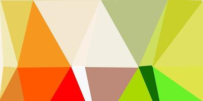 ljusgrön, gul vektor triangel mosaik design.