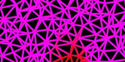 ljusrosa, röd vektor abstrakt triangel bakgrund.