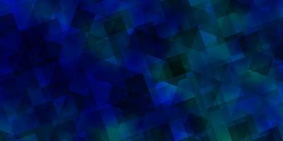 ljusblå vektormall med kristaller, trianglar.