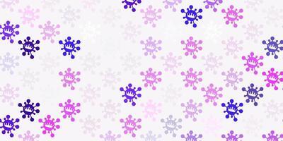 hellviolette, rosa Vektorschablone mit Grippezeichen.