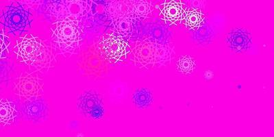 hellpurpurner, rosa Vektorhintergrund mit zufälligen Formen.