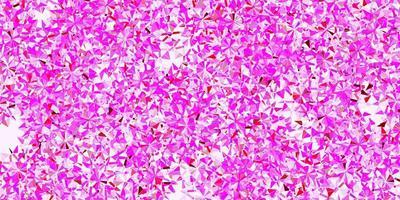 hellviolette, rosa Vektorschablone mit Eisschneeflocken.