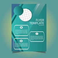 grüne Business Flyer Vorlage vektor