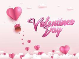 glücklicher Valentinstag Grußkartenentwurf