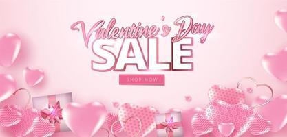 Valentinstag Verkauf Poster oder Banner vektor