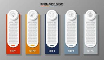 Business Infografik 5-Schritt-Vorlage Banner