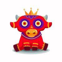 kinesiskt nyår 2021. år av oxen. vektor