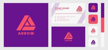enkel och minimalistisk brev en visitkortsmall vektor