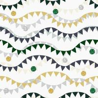 nahtloser Musterhintergrund mit bunten dekorativen Flaggen