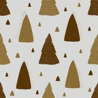 xseamless Musterhintergrund mit monochromer niedlicher Kiefer