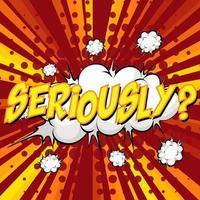 seriöst formulerad komisk pratbubbla på burst vektor
