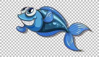 eine Fischkarikaturfigur isoliert vektor