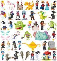 Satz von Märchen-Zeichentrickfigur