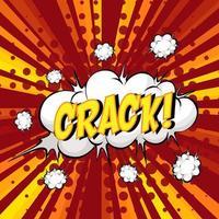 Crack Formulierung Comic-Sprechblase beim Platzen vektor