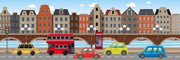 Verkehr in der Stadtszene vektor