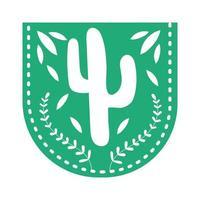 mexikanische Girlande, die mit Kaktus hängt