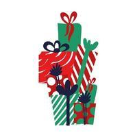Geschenkboxen isolierte Symbole