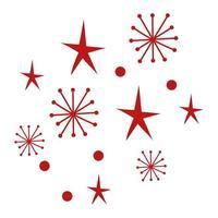 Frohe Weihnachten Schneeflocken Muster Hintergrund Vektor-Illustration Design