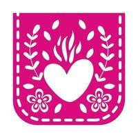 mexikanische Girlande, die mit Herz hängt