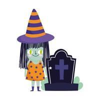 Happy Halloween, Hexenfriedhof Grabstein Trick or Treat Party Feier