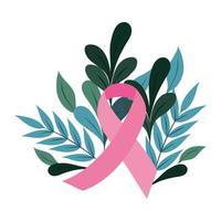 Monat des Bewusstseins für Brustkrebs, Motivationsvektor des rosa Bandes vektor