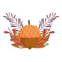 Herbst Eichel Laub Vegetation verlässt die Natur