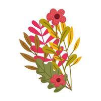 Herbstzweigblätter blüht Naturlaub